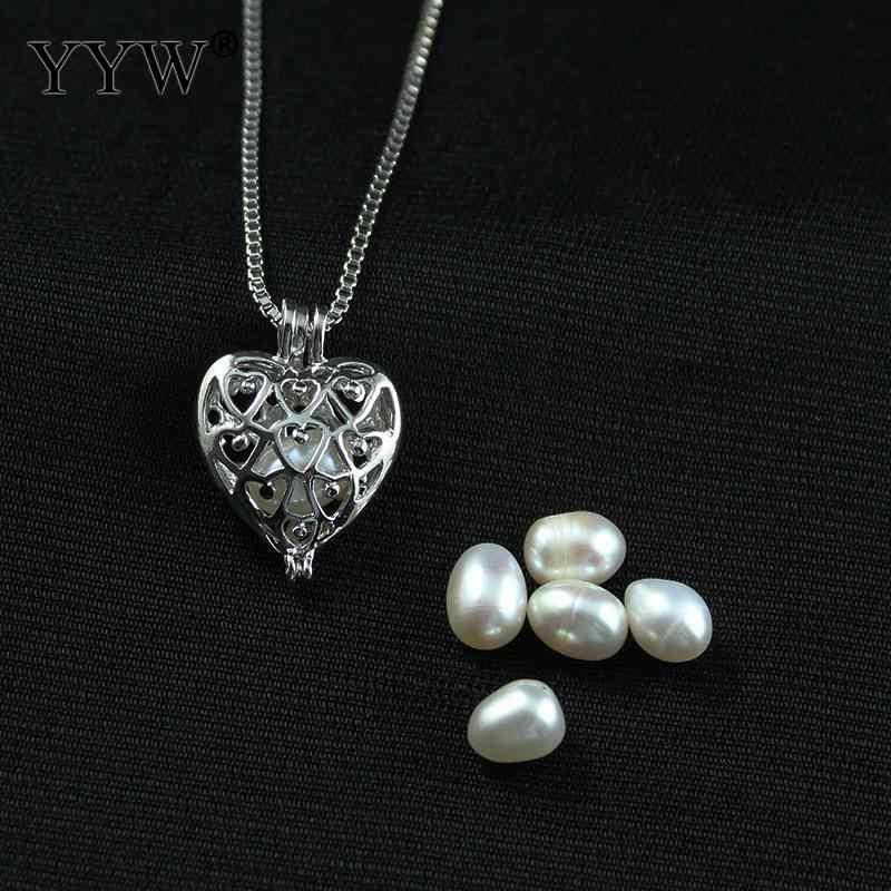 Liefde Wish Pearl Ketting Romantische Liefde Unieke Parel Ketting Vrouwen Hollow Lange Pompoen Oester Parel Hanger