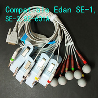 Compatible with Edan SE 1,SE 3,SE 601A monitor ECG/EKG 10 lead 3.0/4.0/snap/clip cable accessories collection