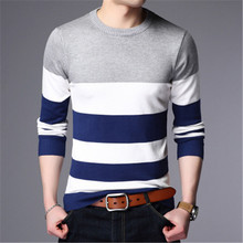 High Quality Mens Pullover 2019 New Fashion Striped Slim Fit Korean Style Male Woolen Sweater Casual Men Clothes Jumpers Knitred