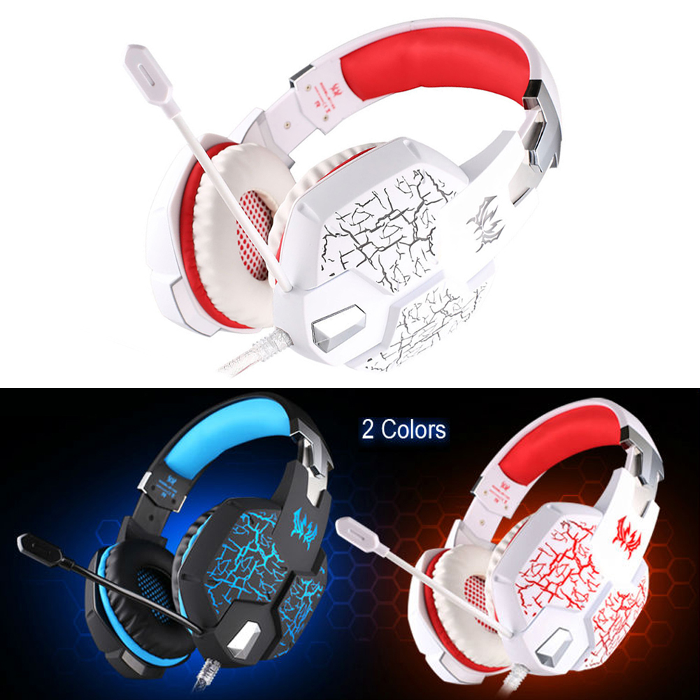 YCDC Gaming Headphone casque Kotion EACH G1100 Best Computer Stereo Deep Bass Game Earphone Headset Microphone Breathing LED