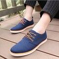2016 zapatillas de lona moda hombre transpirable inglaterra hombre zapatos casuales mocasines planos zapatos ocasionales con cordones Schoenen