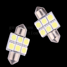 hot 100X 31MM 36MM 39MM 41MM Double pointed Festoon Dome Car Reading Light License plate light 12V White blue red pink ice blue