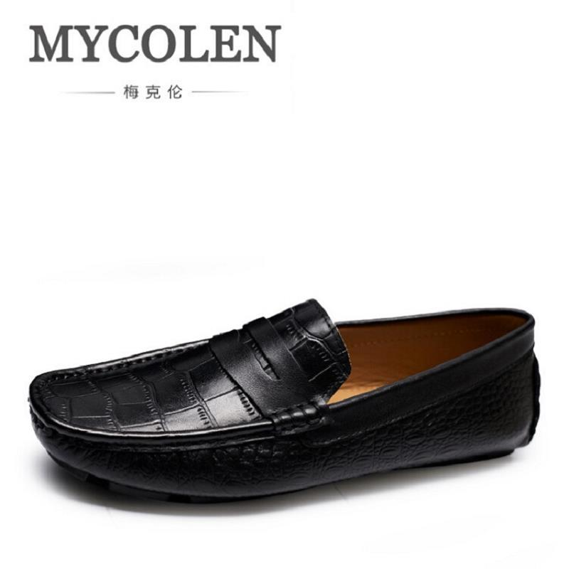 MYCOLEN Brand New Men Shoes Fashion Design Leather Men'S Casual Shoes Business Man Loafers Safe Driving Shoe Moccasin Black asus a88xm plus page 2