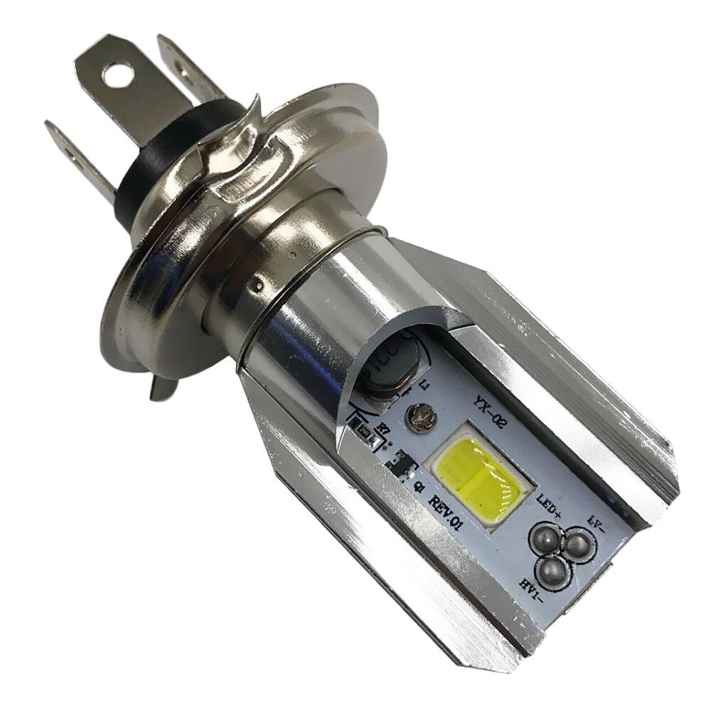 H4 BA20D DC 6V-80V 6W 6500K COB LED Motorcycle Hi/Lo Beam Headlight Bulb Waterproof And Anti-Corrosion