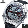 LIANDU Relogio Masculino Мужчины Спортивные Часы Аналоговый Цифровой Двойной Дисплей 3ATM Водонепроницаемый Японии Движение Кварцевые Военные Часы