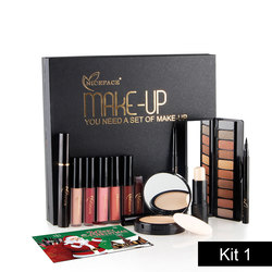 NICEFACE (Best Gift) Makup Tool Kit 13Pcs Make up Cosmetics Including Eyeliner Matte Lipstick Eyebrow Pencil Pressed Powder