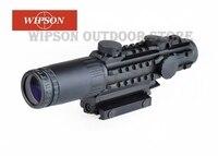 WIPSON Aim Airsoft 1 3x28 Riflescope желтый с подсветкой дальномер Сетка ружье воздушный охотничий прицел с крышкой объектива 1 3 раза
