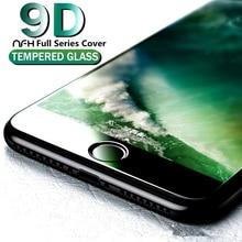 9D защитное закаленное стекло для iPhone 6S 7 полная защитная крышка для экрана iPhon 8 Plus стеклянный чехол для iPhone X XR X S MAX пленка