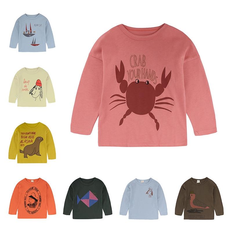 Enkelibb Girls Spring Animal-Print T-Shirt Toddler Baby-Boys Fashion-Design Kids Lovely