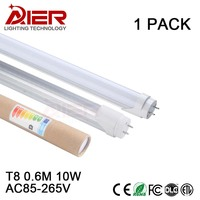 Top LED Tube Manufacturer 2ft T8 Led Tube Light 600mm 10Watt AC85 265V Free Shipping Cold