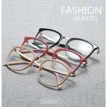Spectacle Frame Women Eyeglasses Computer Prescription Myopia Optical For Female Eyewear Clear Lens Acetate Glasses Frame RS463