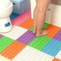 4 pçs/set Criativo mosaico chão do banheiro tapetes não-slip de banho massagem tapetes banheiro chuveiro do banheiro à prova d' água não-slip esteiras