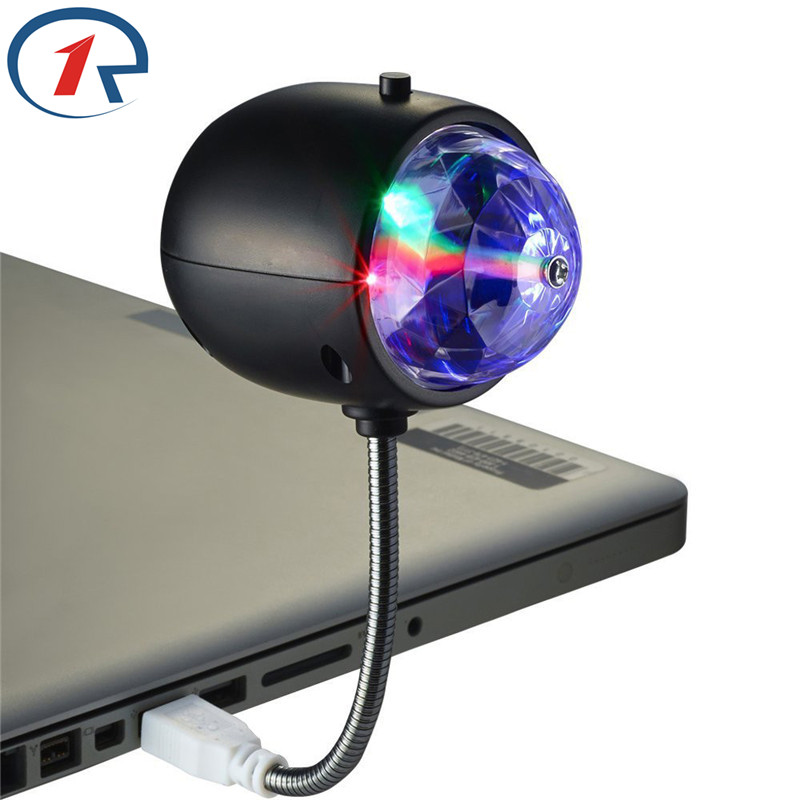 ZjRight 2 in1 USB LED Reading lamp Portable Colorful LED effect Stage Light Christmas holiday Party DJ KTV Bar&White Desk Lights