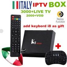 Android 4 К UHDKii Pro DVB-S2/T2 Combo Box TV 2/16 г ROM + Супер Италия Великобритания 3000 + взрослый LiveTV 20 К + VOD Smart K2 Pro IPTV приставки