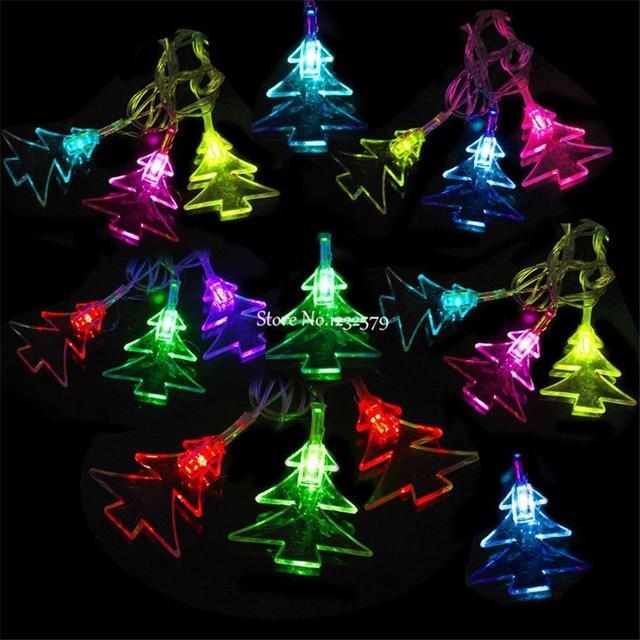 Waterproof 5M 20 LED Solar Powered Christmas Tree Shape Fairy String ...