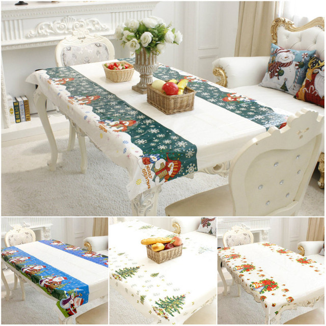 Kitchen Tea Table Decoration Ideas: Christmas Disposable Tablecloth High End PVC Table Runner