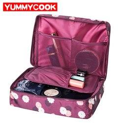 حقيبة يد أنيقة للنساء لتنظيم السفر ومستحضرات التجميل والعناية بها
