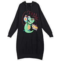 Fashion Style Maternity Mom Hoodies Free Size Cotton Pregnant Women Clothes Jacket Dinosaur Printing Long Maternity
