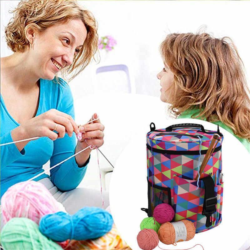 KOKNIT, шерстяная пряжа, сумка для хранения, для дома, крючки для вязания, нитки, пряжа, чехол для хранения, сделай сам, набор для шитья, сумка, органайзер для путешествий, сумка для мамы, подарок