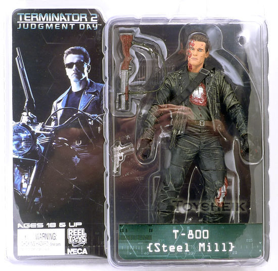 Free Shipping NECA The Terminator 2 Action Figure T-800 T-800 Steel Mill PVC Figure Toy 718cm Model Toy #ZJZ005 free shipping neca the terminator 2 action figure t 800 cyberdyne showdown pvc figure toy 718cm zjz001