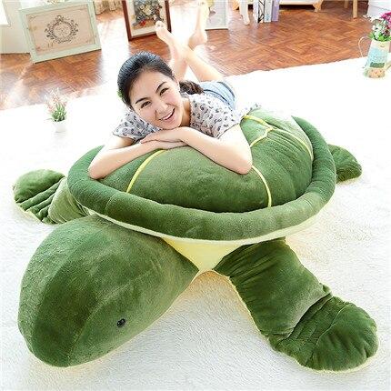 Мягкая плюшевая игрушка Огромный 150 см мультяшный Зеленый черепаха плюшевая игрушка Черепаха мягкая обнимая Подушка Рождественский подаро