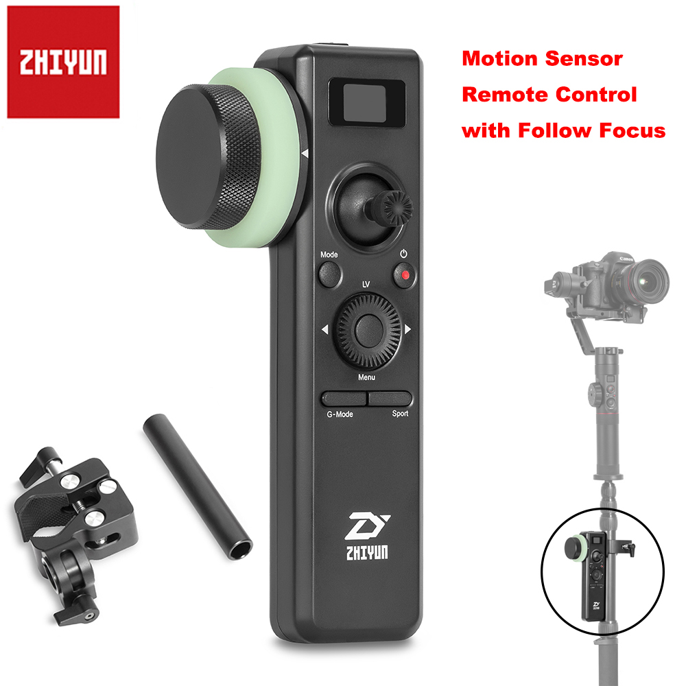 лучшая цена Zhiyun Crane 2 Motion Sensor Remote Control with Follow Focus Gimbal Accessories for Zhiyun Crane 2