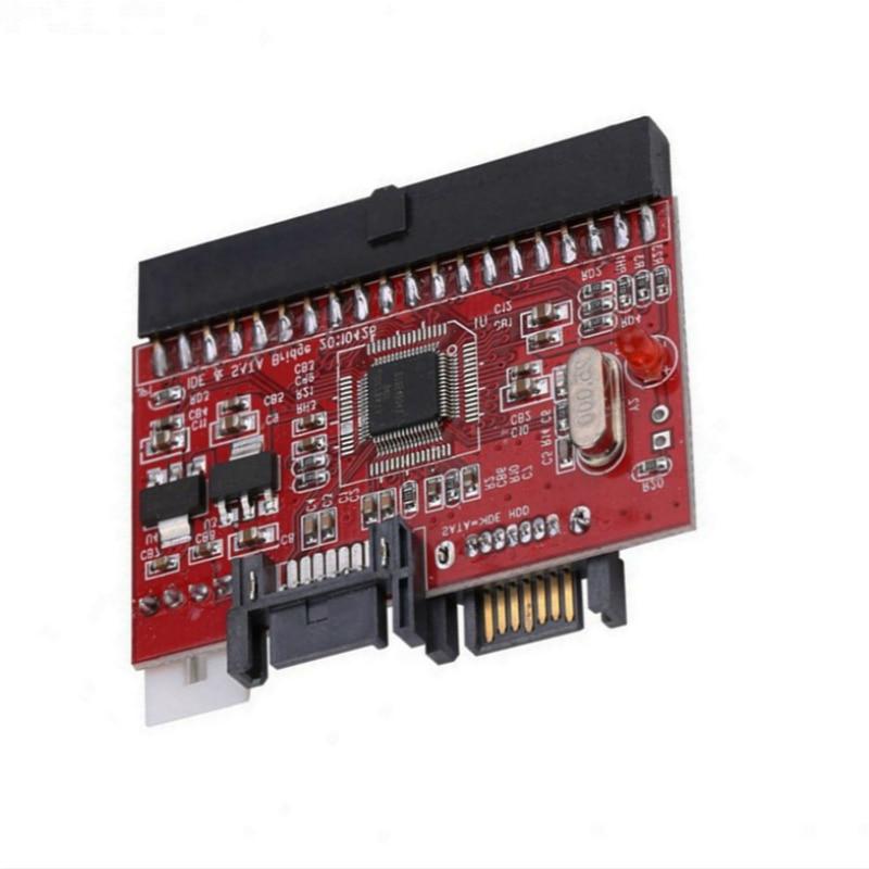 2-в-1 преобразователь IDE в SATA/адаптер SATA-IDE поддержка последовательного порта ATA 40pin IDE 4-контактный разъем питания