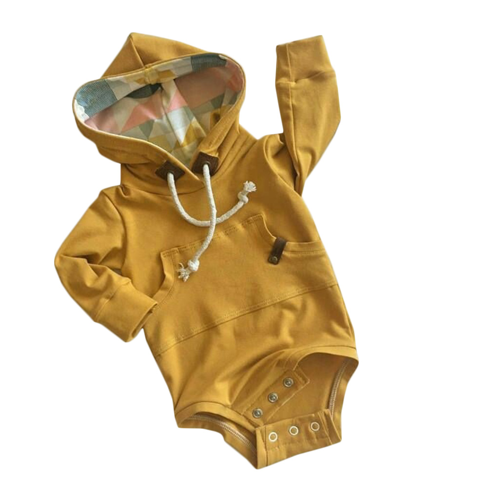 2018 Spring Lovely Sweet Wind Long Sleeved Knit Conjoined One-piece Open Gear Sweater Baby BodySuit