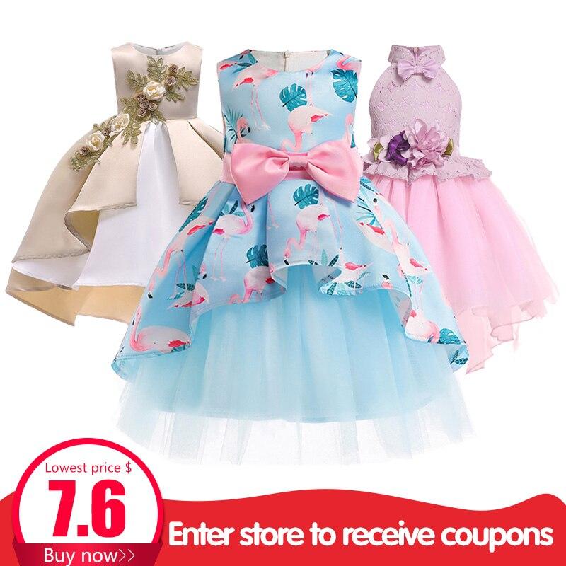 Las niñas vestido de verano los niños vestidos de niña princesa traje de la ropa de los niños ropa de bebé tutu, 2, 3, 4, 5, 6 7 8 9 10 años vestido