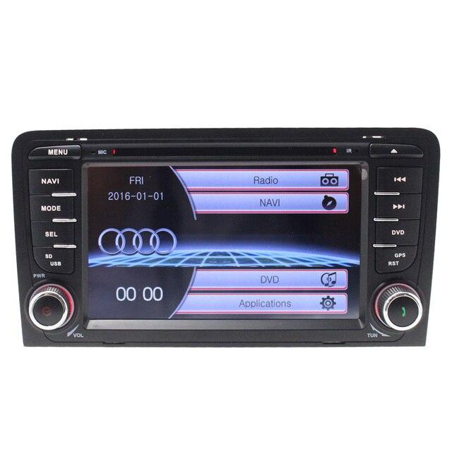 Double din DVD Player Do Carro Para Audi A3 2002-2011 Sat Nav Com Canbus GPS Câmera traseira de Rádio Volante HD Tela Sensível Ao Toque USB BT