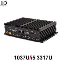 Business Industrial PC Mini Desktop Computer Intl Celeron 1037U/Core i5 3317U Dual Core, Fanless Nuc,HTPC,2*LAN, 4*COM,WiFi,HDMI
