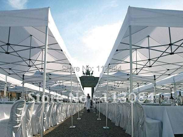 Livraison gratuite à prix réduit qualité 4m * 4m professionnel en aluminium en plein air dîner partie Gazebo, événement chapiteau tente, auvent, auvent