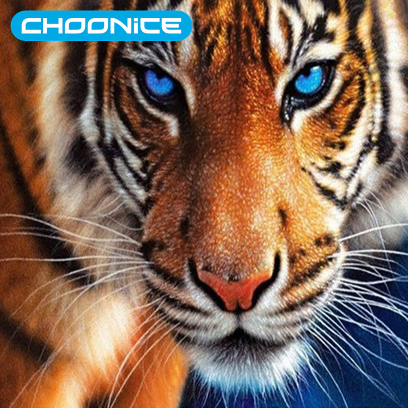 3d Diy Berlian Lukisan Harimau Harimau Berlian Mosaik Gambar