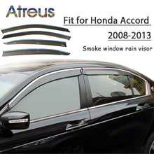 Atreus 1set ABS Rain Smoke Window Visor Car Wind Deflector For Honda Accord 2008 2009 2010 2011 2012 2013 Accessories(China)