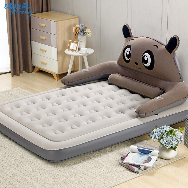 New cartoon air bed puppy dog air mattress double increase single folding mattress outdoor portable bed mat