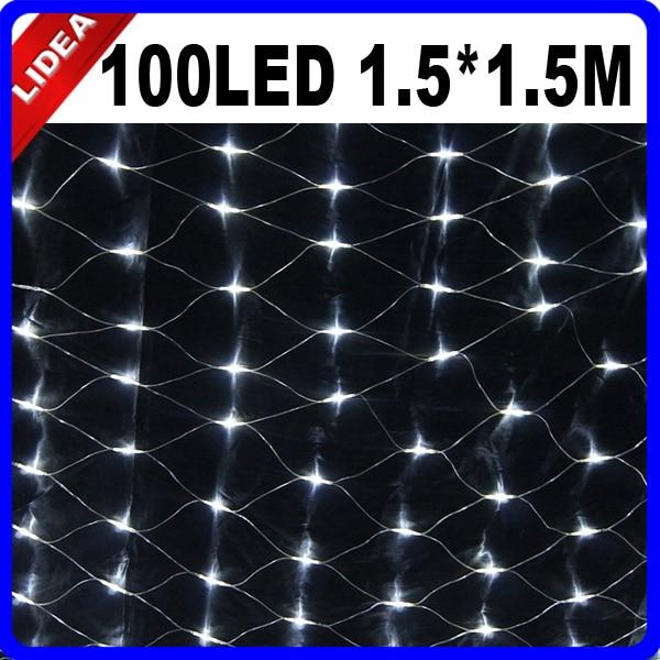 1.5 * 1.5M 100 LED Party Γάμος Κήπος Νέο Έτος Net - Φωτισμός διακοπών - Φωτογραφία 3