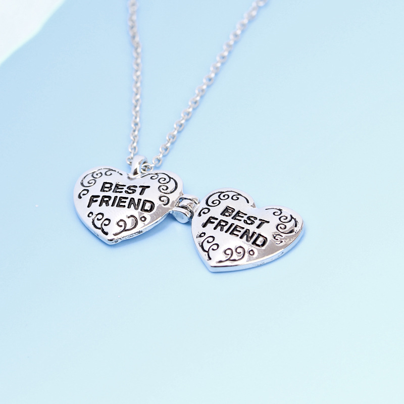 Best Friend Forever Friendship Necklace Best Friends Heart shaped ...