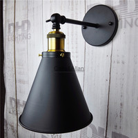 Vintage eisen schwarz fertigen leuchte loft aisle schlafzimmer nachttischlampe wandleuchte home deco E27 bronze wand scone lampe