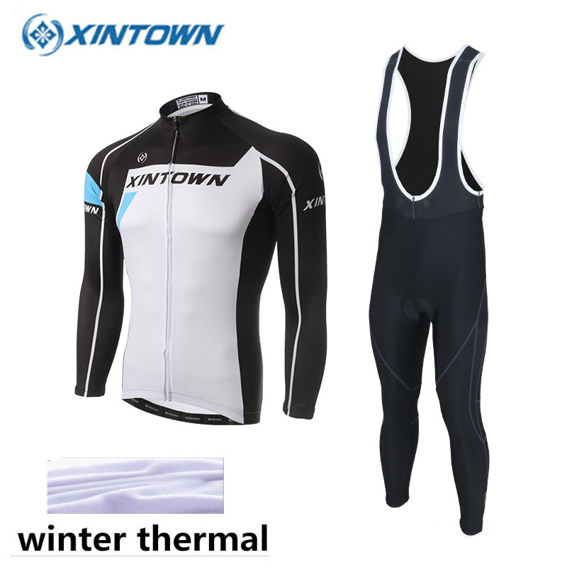 XINTOWN 2018 Cycling Jerseys Cycling Set Winter Thermal Fleece Long Sleeves Racing MTB Suit Maillot Bike Clothing Ropa Ciclismo live team cycling jerseys suit a001