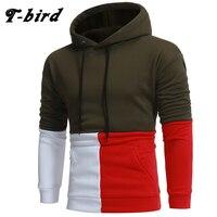 T Bird 2017 Brand Hoodies Men Casual Stitching Sweatshirt Male Hoody Hip Hop Autumn Winter Hoodie