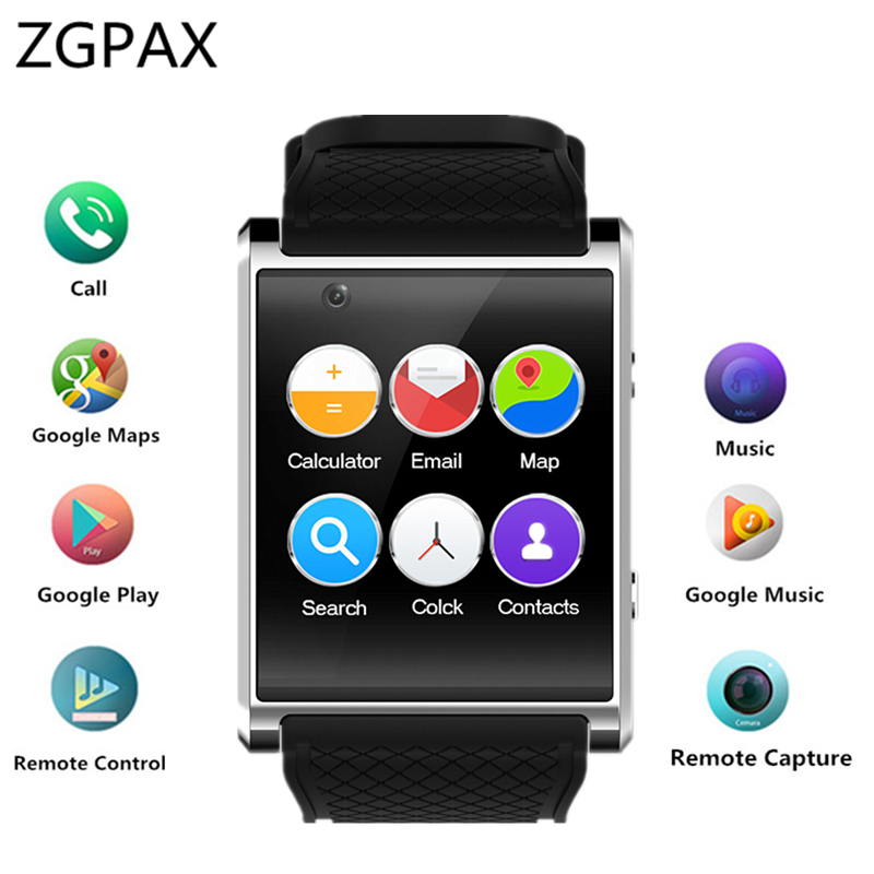 ZGPAX Newest Android 5.1 Smart Watch Z11 MTK6580 Smartwatch with pedometer camera 2.0M 3G WIFI GPS for xiaomi huawei SAMSUNG zgpax s99c android v5 1 os smart watch hd touch screen smart watch gps wifi phone watch with 2mp camera pedometer monitor