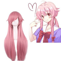 Japanese Anime Mirai Nikki Gasai Yuno Cosplay Wig For Women Girls Halloween Party Stage Play Bunches