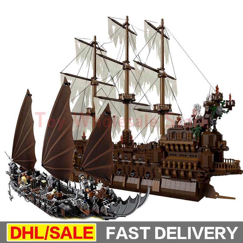 Lepin 16016 The Flying the Netherlands Movies Series + Lepin 16018 Ghost Pirate Ship Building Blocks Bricks Gifts Clone 79008 lepin 30017 505pcs elves series the aira