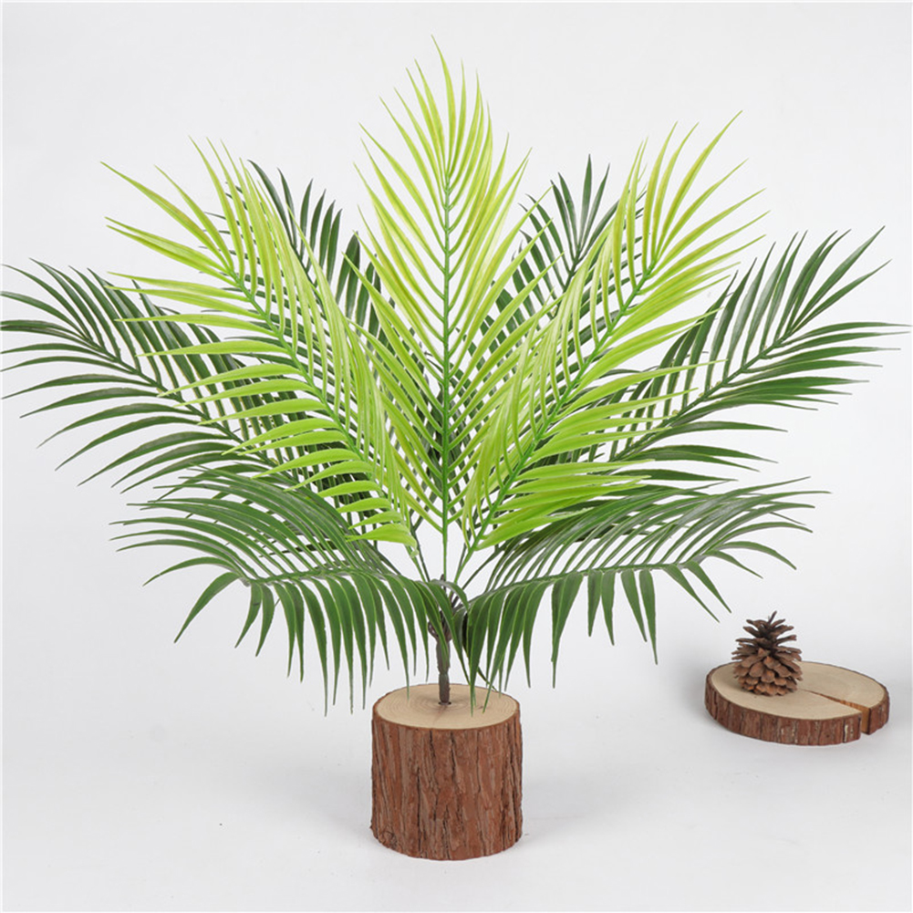 9 Bransh Artificial Fern Bouquet Plastic Green Plants Fake Leaves Craft For Indoor Outdoor Home Garden Party Decoration