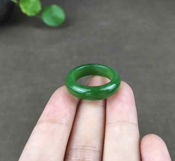 หยกธรรมชาติหยกแหวนสีเขียวแห้งแถบสี Yang สีเขียวแหวน drop shipping