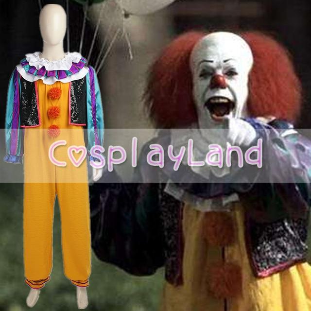 5b48f1f8007f Bambino-Uccisione Pagliaccio Pennywise Cosplay Costume di Carnevale Costume  di Halloween Per Adulti Stephen King