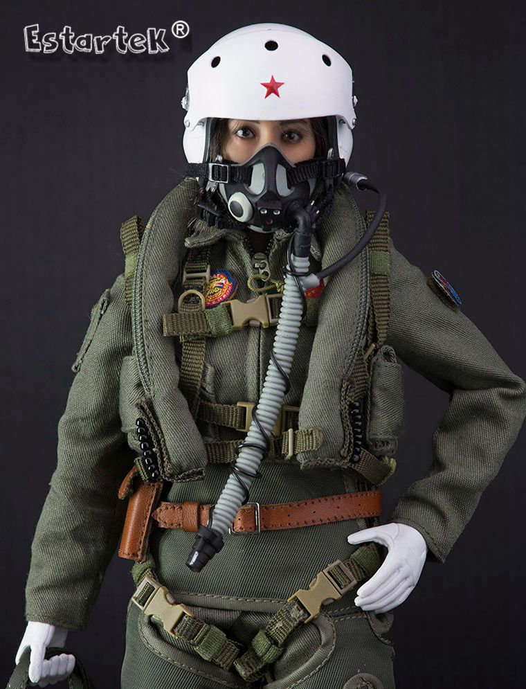 FLAGSET 1:6 Chinese People/'s Liberation Army 90 Years Female Pilot Figure Model