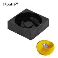 1 PCS Black Round Wave Shaped Silicone Mousse Pan 3D DIY Cake Mold Baking Decorating Tools