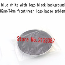 10pcs good quality new 82MM/74MM Blue White auto logo Front Hood Rear Badge emblem with lable for E46 E30 E39 E34 E60 E36 E38