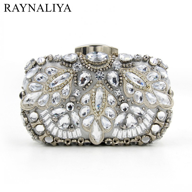 Women Luxury Purses And Handbags Ladies Designer Handbag Crystal Evening Clutch Bags Bridal Glitter Purse Party Mini SMYZH-E0256
